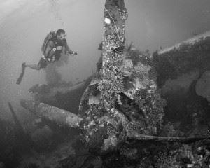 Emily Plane in Truk Lagoon (Credits: Brandi Mueller)