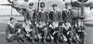 Marchione's crew when he was flying on B-24 Liberators (he is second from right) (Credits: Together We Served)