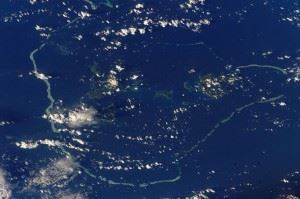 Satellite photographs from the Chuuk Islands. (Credits: NASA)