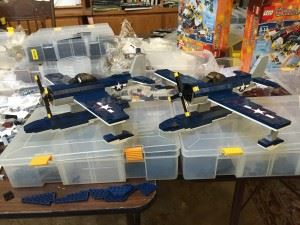 Lego SC-1 Seahawks from the USS Missouri.