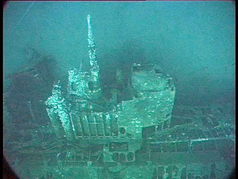 Conning tower of the Type XXI U-boat U2511, sunk during Operation Deadlight . (Credits: Innes McCartney)