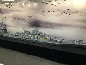 Daniel prepared the model for the move to WWB Hartford in July 2015, after adding the catapults and crane. The superstructure is nearly completed.
