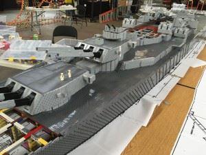 USS Missouri in Lego - The progress in June 2015.