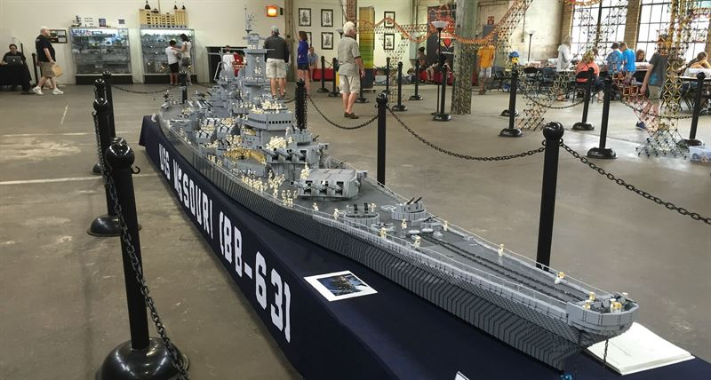USS Missouri - The World's Largest LEGO WWII Battleship