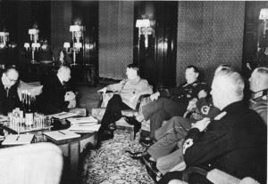 Hácha, Hitler and Göring meeting in Berlin, March 1939 (Credits: Bundesarchiv / F051623-0206)