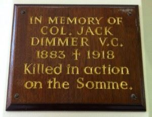 Memorial Plaque of Jack Dimmer. (Credits: Andy Arnold)