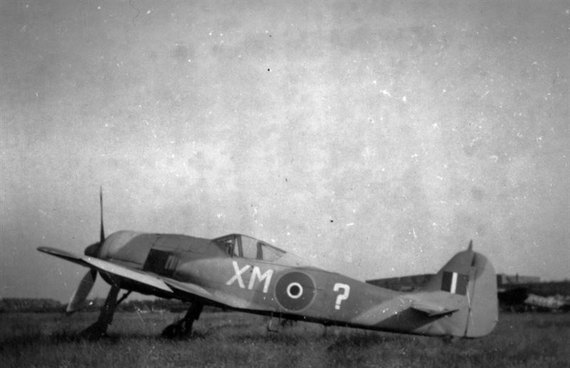 """""""The FW190 that surrendered to us at Hannover before the end of the war. Lubeck. June '45."""""""