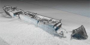 Cleaned version of the multibeam data acquired over the SS Polwell. (Credits: Marine Institute)