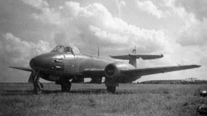RAF Gloster Meteor at former Luftwaffe Airfield Lübeck