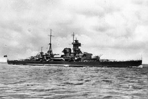 "German Cruiser ""Admiral Hipper"" (Credits: Bundesarchiv)"