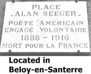 Alan Seeger Plaque