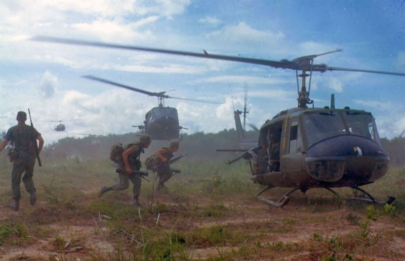 UH1-D Helicopters in Vietnam, 1966. (Credits: Photo: US Army Sgt. 1st Class James K. F. Dung)