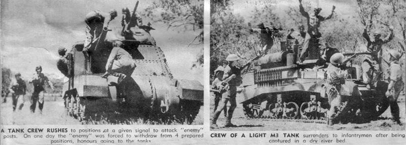 Example of article published after the 1 Australian Armoured Division Manoeuvres