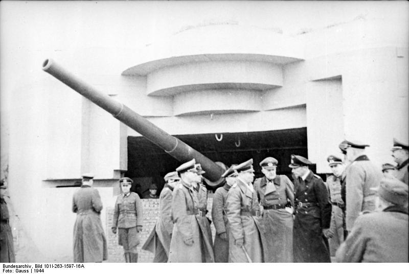 Generalfeldmarschall Erwin Rommel checking out the Atlantikwall