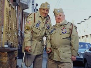 "WWII vets Bill Guamere (left) and ""Babe"" Heffron (right). (Credits: Michael Bryant via WWII Foundation)"