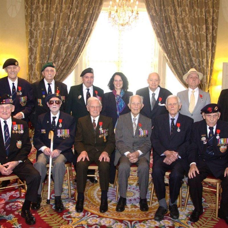 British Veterans awarded the Legion d'Honneur