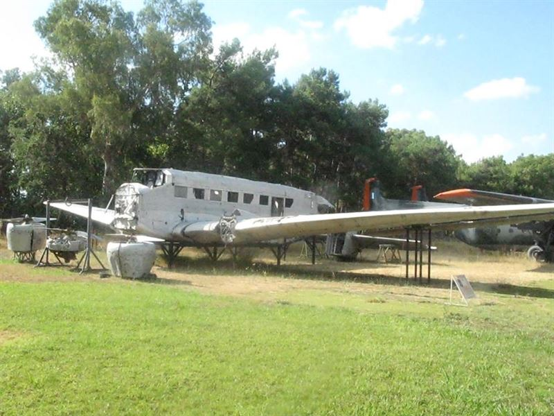 The Ju-52 at the exterior of the Hellenic Air Force Museum