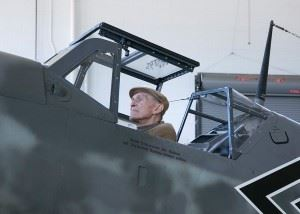 Hans Meyer, former Luftwaffe Pilot in a Bf109. (Credits: Military Aviation Museum)