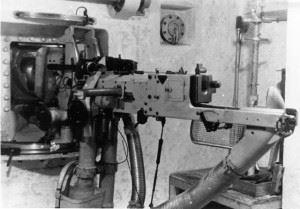 Installment of a MG-Schartenlafette 34