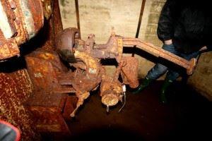 MG-Schartenlafette 34 in German Bunker Denmark