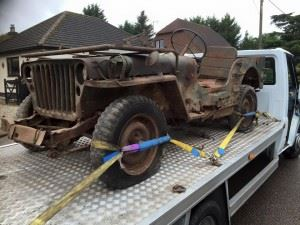 The Willys MB, brought back from Normandy.