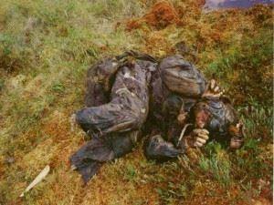 Remains of 22 year old pilot Boris Lazarev