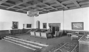 """How the """"Große Halle"""" (""""Great Hall"""") of the Berghof, Obersalzberg looked before the destruction. (Credits: Bundesarchiv)"""