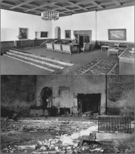 "How the ""Große Halle"" (""Great Hall"") of the Berghof, Obersalzberg looked before the destruction. (Credits: Bundesarchiv)"