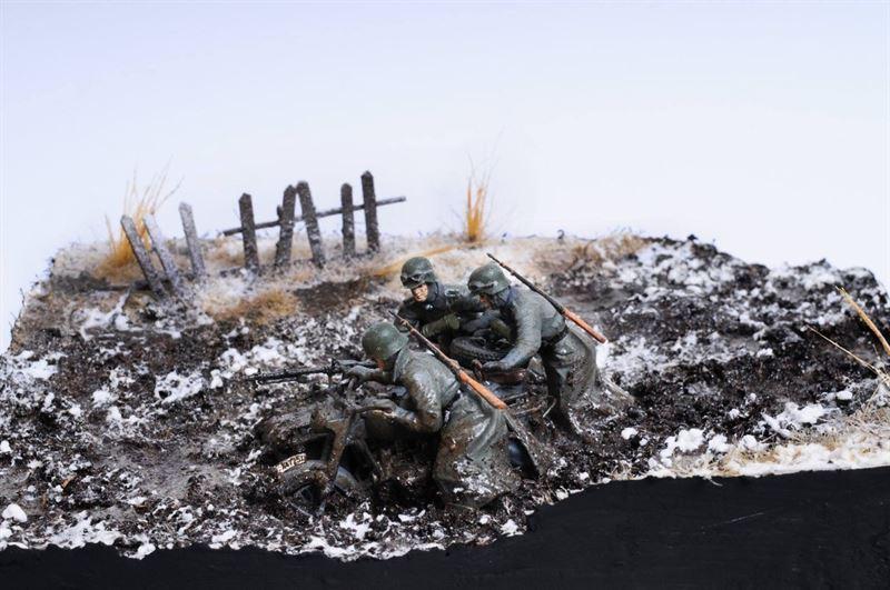 """24. Panzer Division at Stalingrad, 1942"" diorama created by Bogdan Popescu"