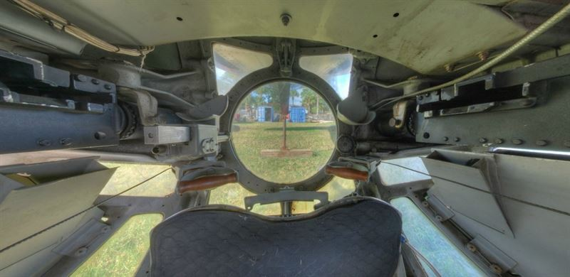 Inside the Ball Turret of B-24J Witchcraft. (Credits: VintageTin)