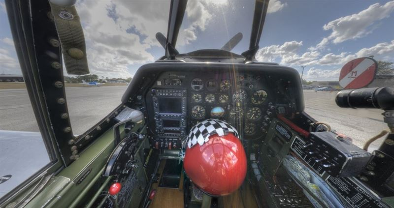 Inside the cockpit of P-51C 'Betty Jane' (Credits: VintageTin)