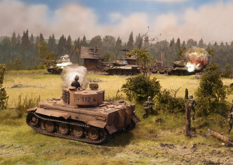 """Kurt Knispel - Tank Legend"" diorama created by Bjørn Jacobsen"