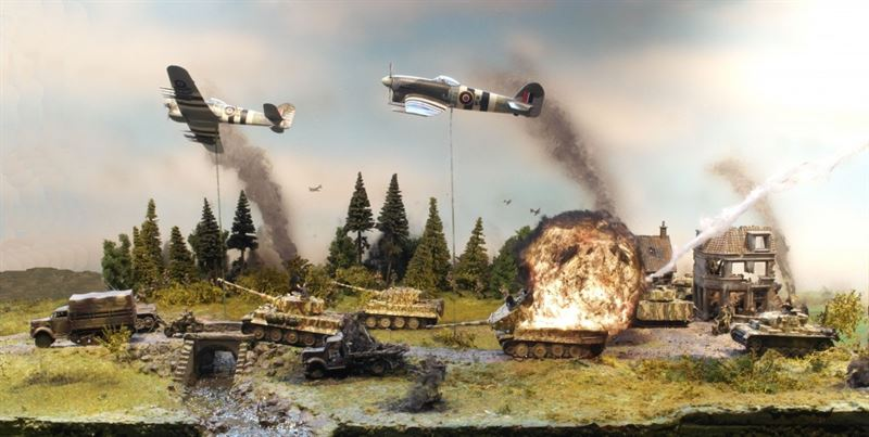"""""""Day of the Typhoon"""" diorama created by Bjørn Jacobsen"""