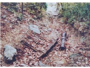 The 152mm gun found by Lt. Colonel Kotridis