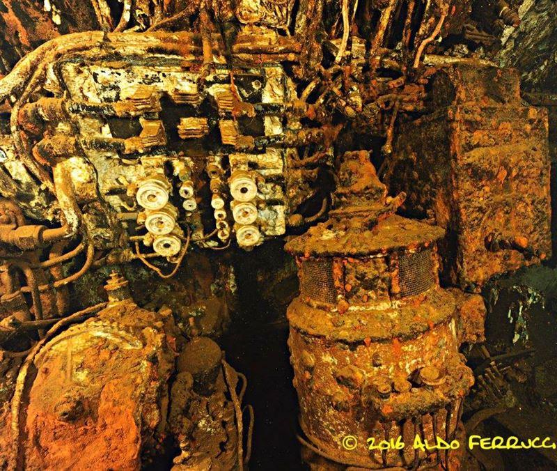 Inside the French submarine Rubis wreck (Credits: Aldo Ferrucci)
