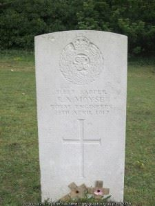 Headstone of R.A. Moyse
