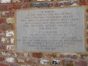 Memorial Plaque for the Coldstream Guards.