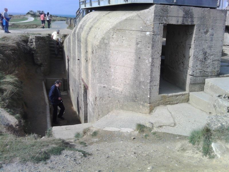 Bunkers at Pointe du Hoc. (Credits: Patricia Gontier)