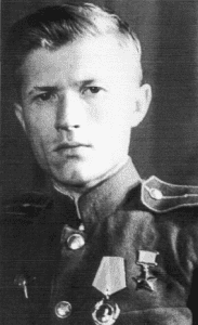 Ivan Sidorenko with his Hero of the Soviet Union Golden Star medal