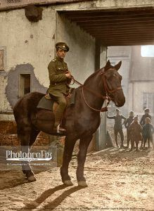 This final image is a departure from the other portraits, showing an unknown British Tommy from the 'A' Squadron, the North Irish Horse Regiment.