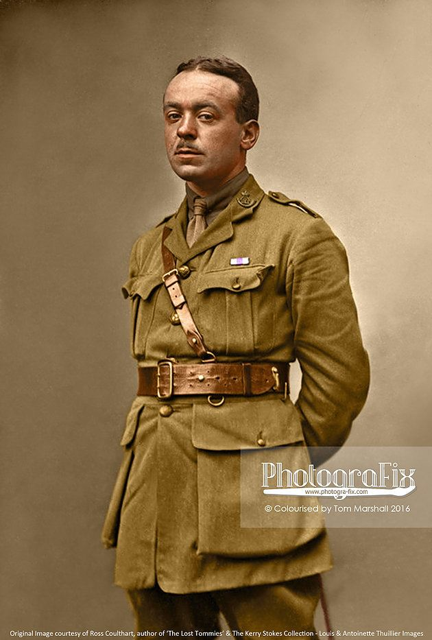 This soldier of the Durham Light Infantry looks the classic 'movie star' soldier. He is sporting the ribbon of the Military Cross and may well have been a well known man.