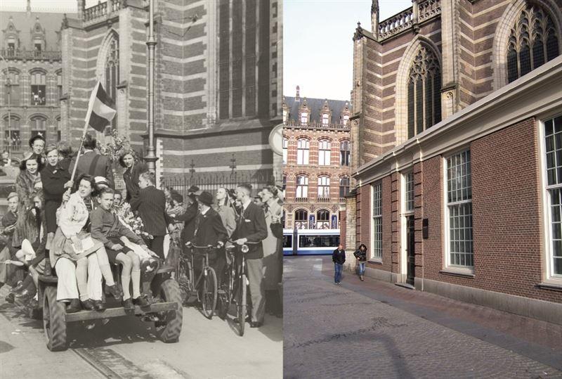 Liberation of Amsterdam, Netherlands. Celebration on May 8, 1945.