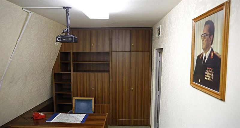 Tito's office, one of more than 100 rooms located within the bunker. Source: Daily Mail.