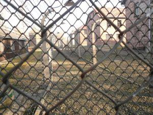 As viewed through the barbed wire