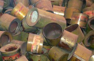 Empty gas canisters