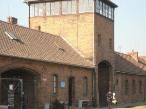 Entrance to Birkenau / Concentration Camp Auschwitz-Birkenau