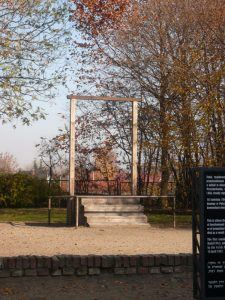 The hanging site of Rudolf Hess
