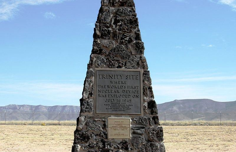 The Trinity Site Obelisk. The spot is open to tourist only one day a year, the first Saturday each April.