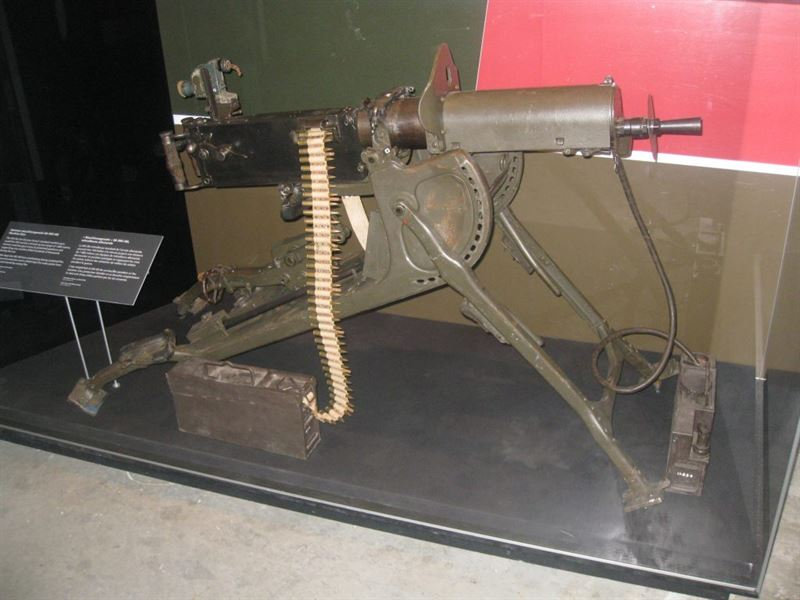 An MG 08 at the Canadian War Museum.