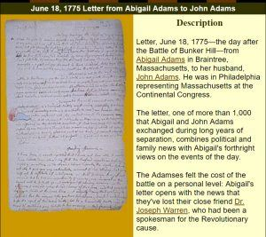 Abigail Adams Letters